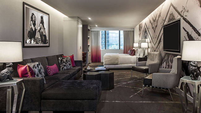 The new City Studio suite at The Cosmopolitan of Las Vegas.