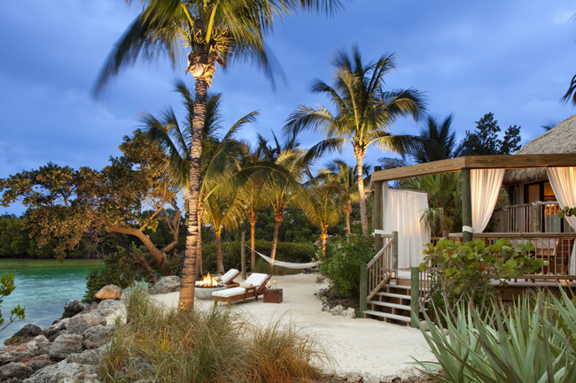 The exterior of the Sammy Romance Suite at Little Palm Island Resort & Spa in the Florida Keys.
