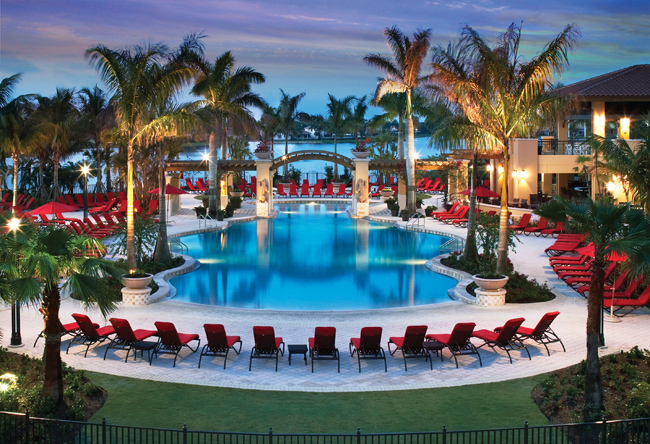 The pool at the PGA National Resort & Spa in Palm Beach Gardens.