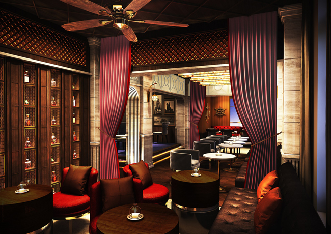 A rendering of the Classic House Bar at the upcoming The Prince Gallery Tokyo Kioicho, a Luxury Collection Hotel.