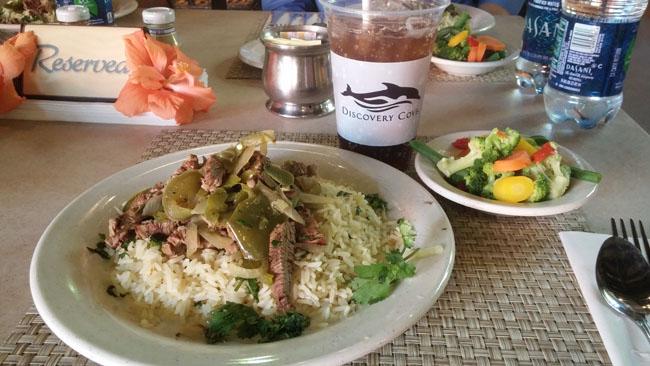 Laguna Grill's new chimmichurri steak dish.