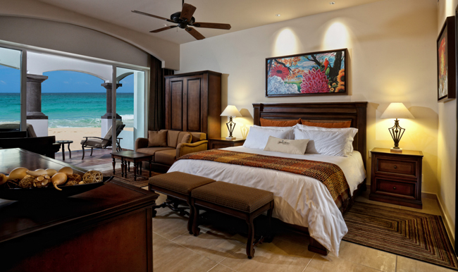 The Master Suite bedroom at the Grand Residences Riviera Cancun.