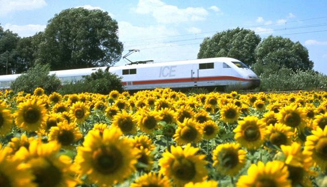 The Deutsche Bahn ICE train.