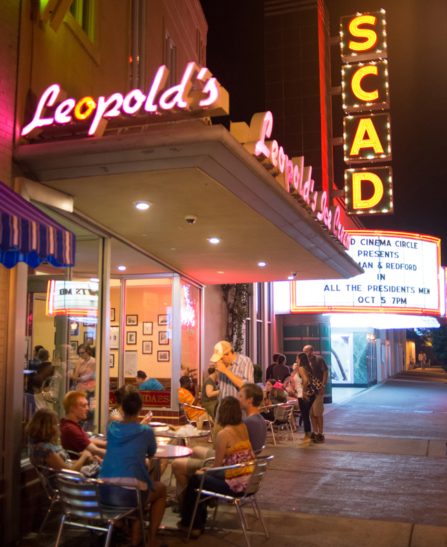 Leopold's Ice Cream shop in downtown Savannah.