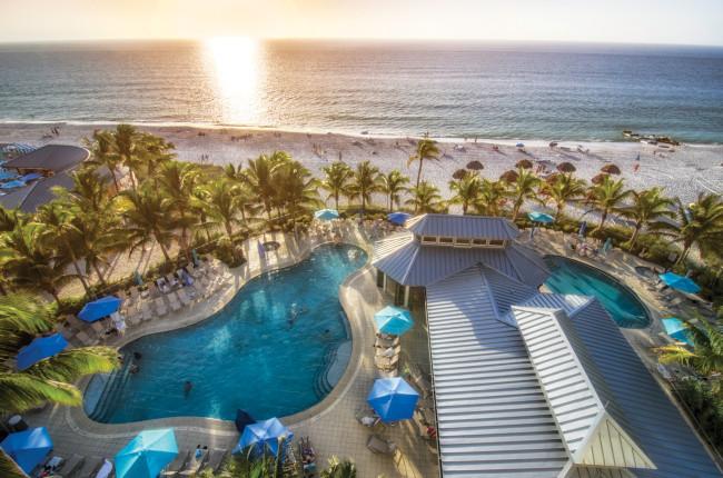 Pool -- Beachside Pool Complex (Aerial) -- The Naples Beach Hotel & Golf Club