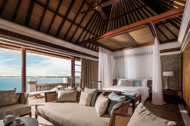 The Four Seasons Jimbaran Bay renovated Premier Ocean Villa.