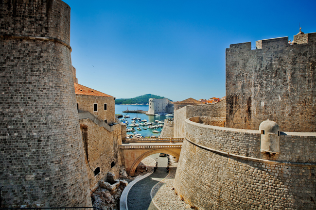 The view from Revelin Fortress in Dubrovnik.