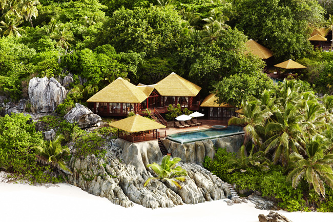 Private pool residences on Fregate Island Private.