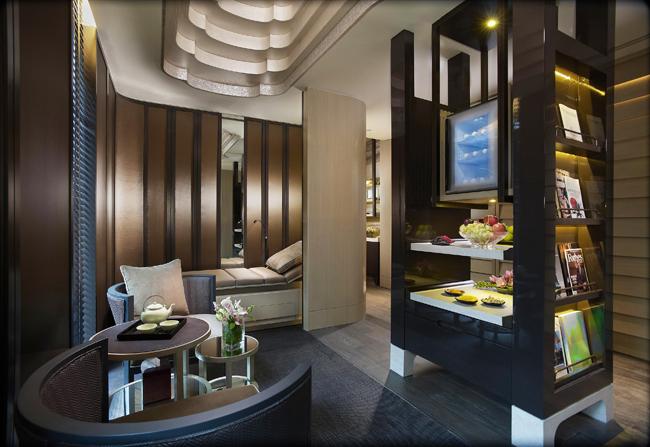 TheSpa Tea Lounge atthe Mandarin Oriental, Singapore.