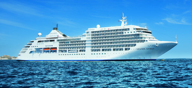 The Silver Spirit is one Silversea Cruises' ships sailing the Mediterranean this year.