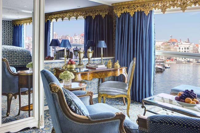 The Royal Suite on the S.S. Maria Theresa. Photo courtesy of Uniworld Boutique River Cruise Collection.