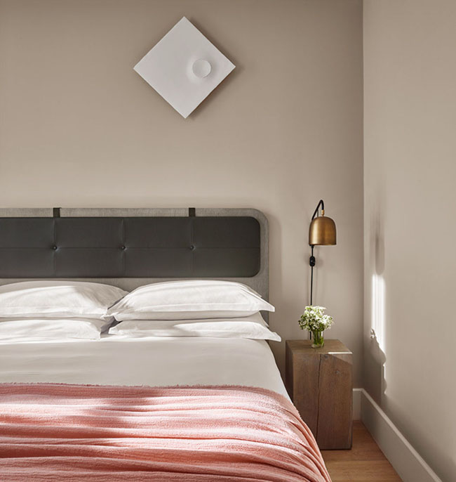 A guestroom at soon-to-open 11 Howard in New York.