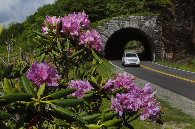 Asheville's469-mile Blue Ridge Parkway stretches from the Appalachians to Virginia. (Photo credit: John Fletcher, Jr.)