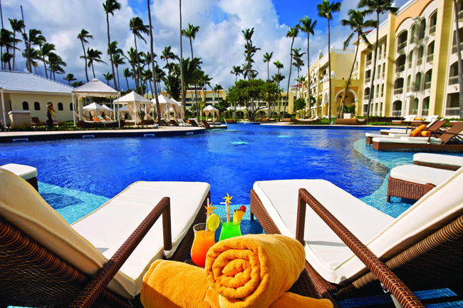 Poolside at Iberostar Grand Hotel Bavaro.