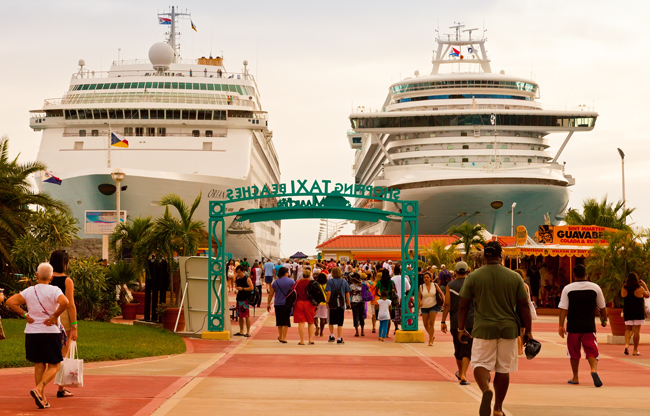 The St. Maarten cruise port.