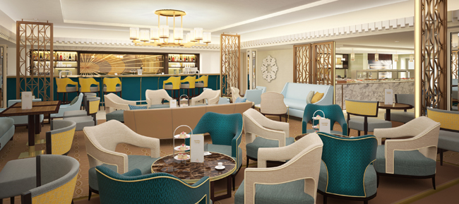 The Queen Mary 2's new Carinthia Lounge, a remastering of Winter Garden, will feature live evening entertainment.