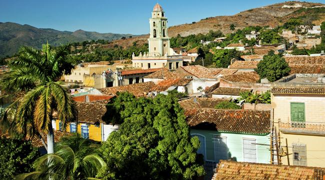 The cityscape in Trinidad, Cuba.