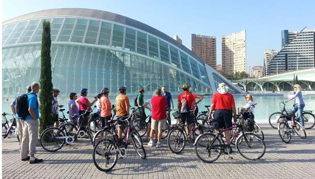 MSC Cruises's new Wellness Experience includes personalized onshore excursions, such as cycling in Valencia, Spain.