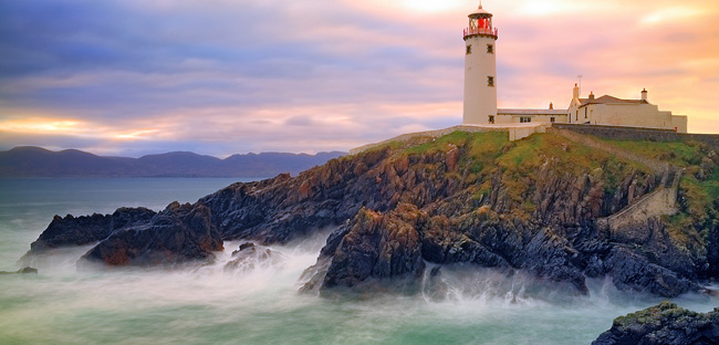 The Fanad Lighthouse in Donegal, Ireland.