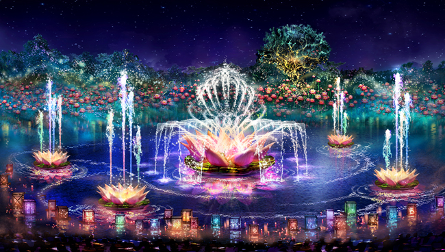 A rendering of the new Rivers of Light waterside show at Disney's Animal Kingdom in Orlando.