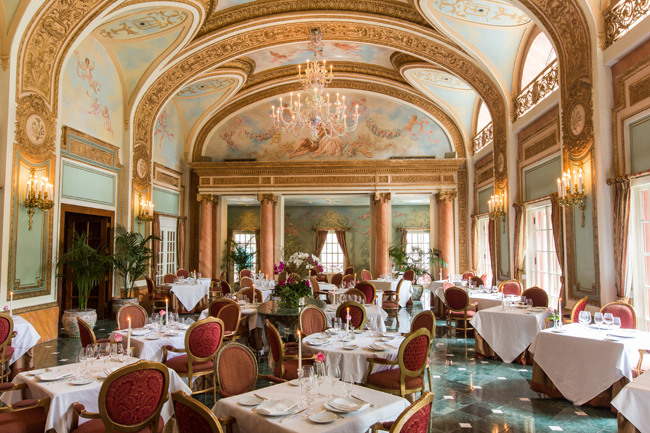 The French Room at The Adolphus Hotel in downtown Dallas.