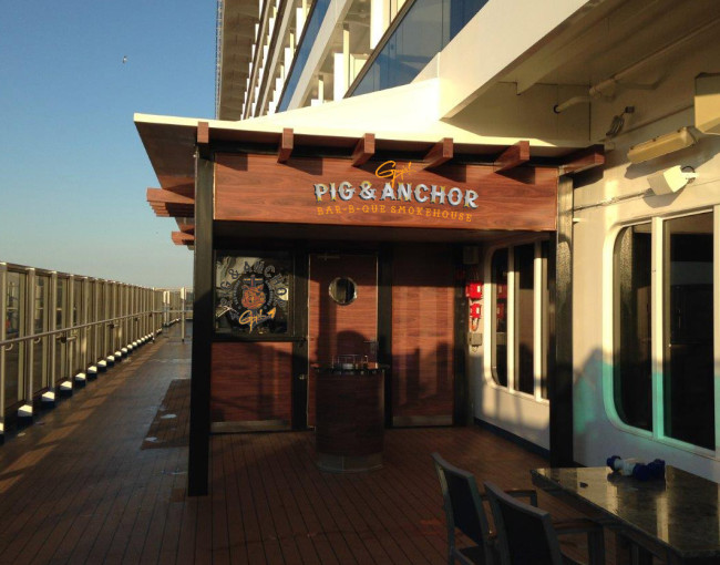 Guy's Pig & Anchor Bar-B-Que Smokehouse on board the Carnival Magic.
