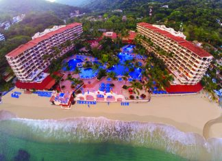 Bird's-eye view of Barcelo Puerto Vallarta.