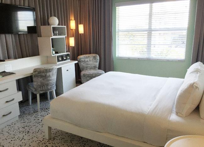 Guestroom at the Metropolitan by COMO, Miami Beach.