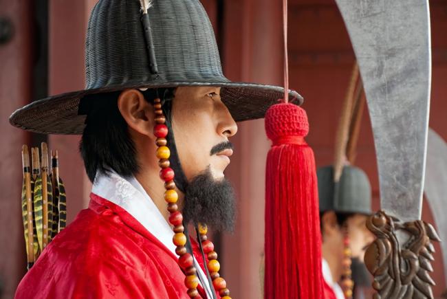 Korean guard at Gyeongbokgung Palace.