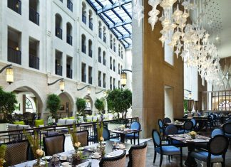 Palace restaurant at Waldorf Astoria Jerusalem.
