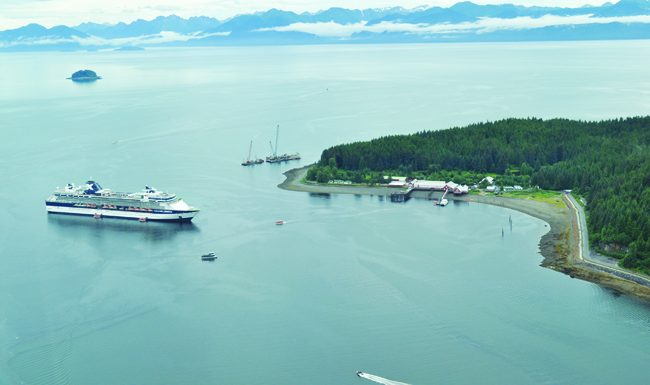 Icy Strait Point in Hoonah, Alaska is building a new dock and Welcome Center for the upcoming cruise season.