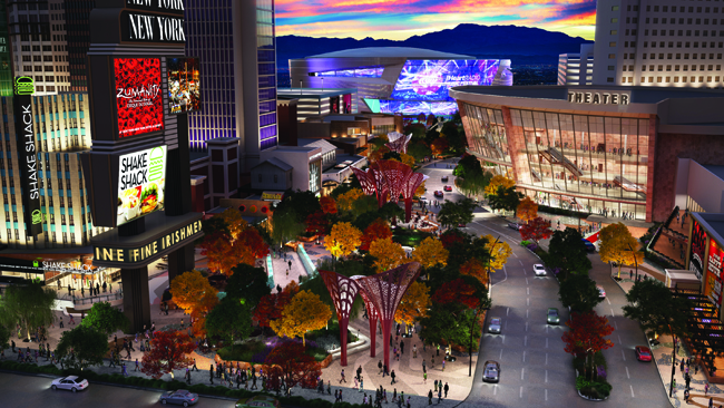 MGM Resorts International's The Park on the Strip debuts this month.