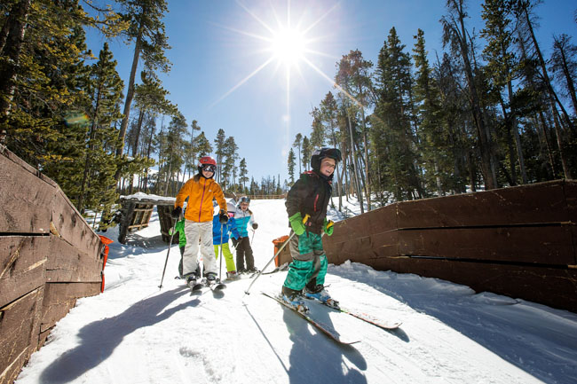 TheKeystone Resort in Colorado allows kids ages 12 and under to ski free when staying two nights or longer. (Photo credit: Daniel Milchev, Vail Resorts)