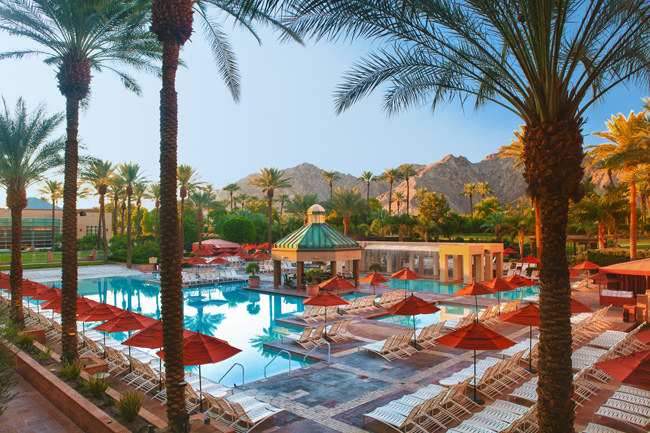One of the pools at theRenaissance Indian Wells Resort & Spa.