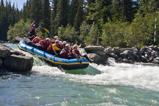 Whitewater rafting on the Kicking Horse River in the Canadian Rockies. (Photo credit: Austin Adventures)