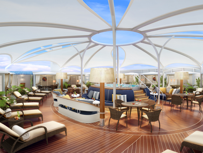 The Retreat on board Seabourn Encore, which is set to debut this December.