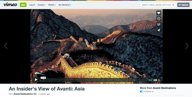 A screen shot from Avanti's new video to help travel agents sell FIT Asia travel.