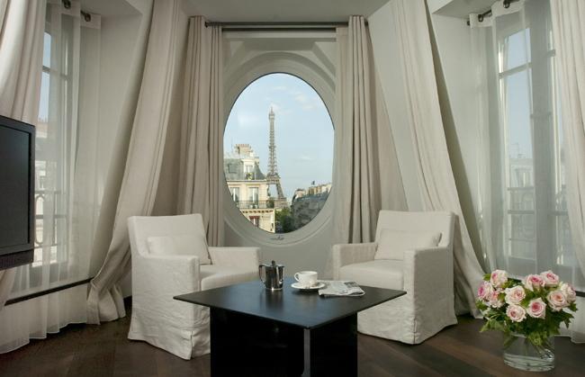 The Eiffel Suite at the Le Metropolitan in Paris.