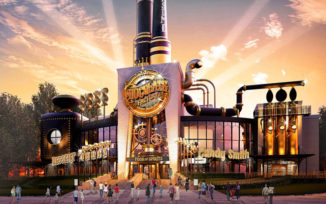 A rendering of the The Toothsome Chocolate Factory & Savory Feast Emporium at Universal Orlando Resort's Universal CityWalk. (Photo credit: Universal Orlando)