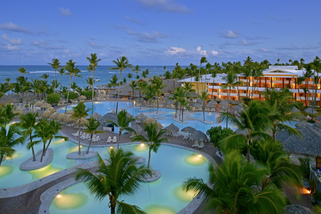 The main pool at the Iberostar Punta Cana in the Dominican Republic.
