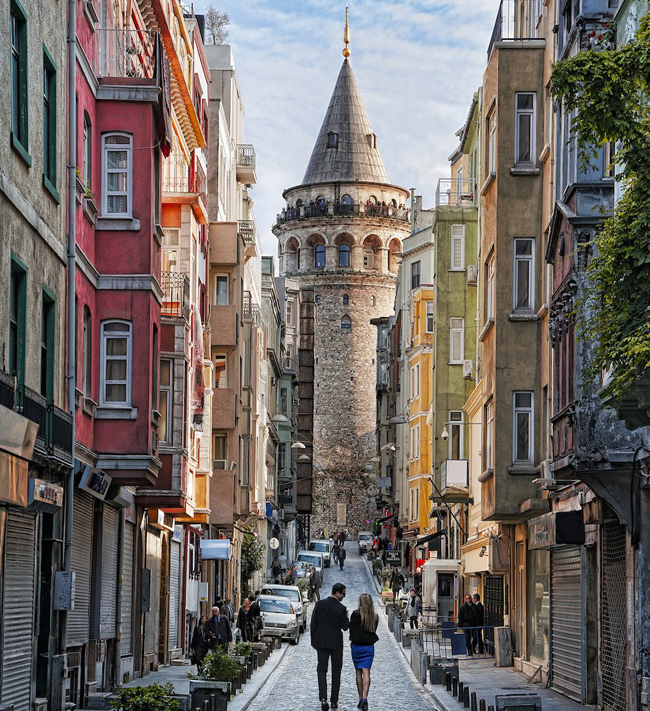 The Galata Tower in Istanbul.