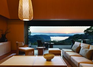 Villa accommodations at Amanemu, a hot springs resort in Japan.