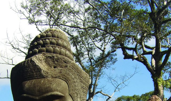 Carved in stone, warriors and devils, nymphs and gods stand guard over Angkor Wat. (Carla Hunt)