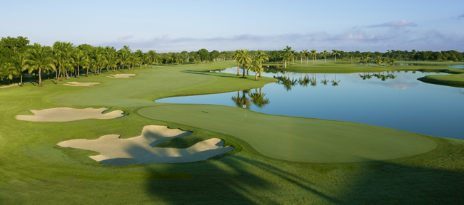The Blue Monster golf course at the Trump National Doral Miami.