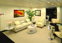 Rendering of the Vista Suite on board Oceania Cruises' Sirena.