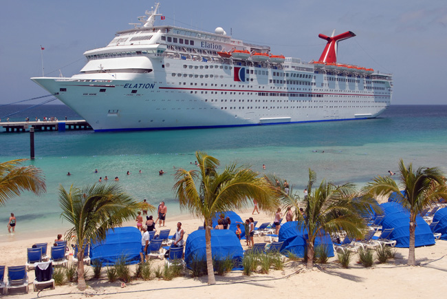 The Carnival Elation in Grand Turk.