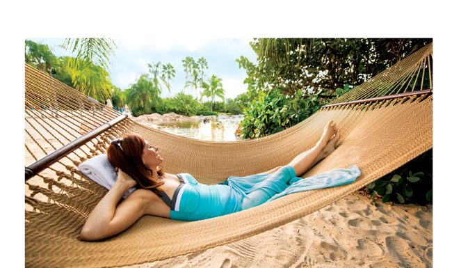 Discovery Cove offers a relaxing environment.