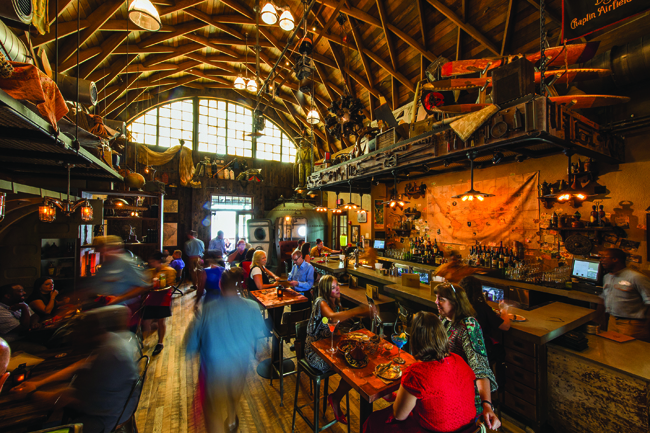 The Hangar restaurant at Disney Springs.