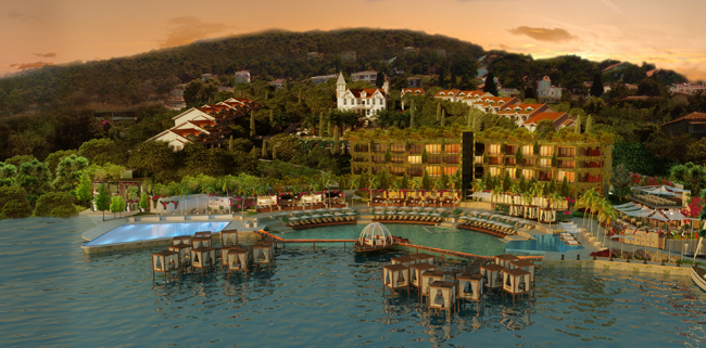 A rendering of the upcoming Viceroy Princes' Islands Istanbul in Turkey.
