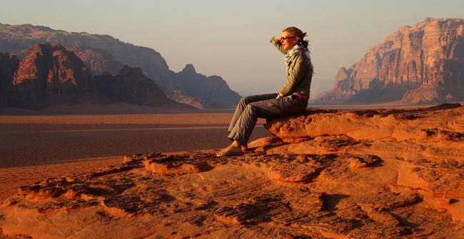 Wadi Rum desert in Jordan.
